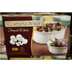 CORNINGWARE FRENCH WHITE 14 PIECE COOKWARE SET