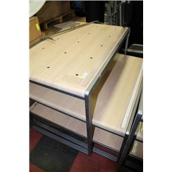 TWO PIECE COMMERCIAL NESTING DISPLAY TABLES