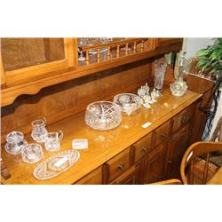 25PC. COLLECTION OF CRYSTAL DISHES