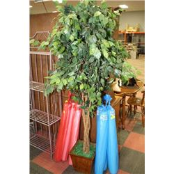 SHOWHOME ARTIFICIAL PLANT WITH WOOD PLANTER