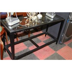 SHOWHOME WOOD AND GLASS SOFA TABLE