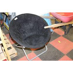 Black Foldable Bucket Chair
