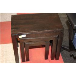 SHOWHOME 3 PIECE NESTING TABLE SET (SCRATCHED)
