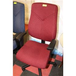 NEW OFFICE CHAIR ON CHOICE: RED