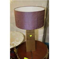 PURPLE AND GOLD TABLE LAMP