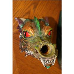 Colourful Dragon Head Ornament - 1 Foot Tall