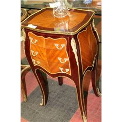 WOOD 3 DRAWER END TABLE