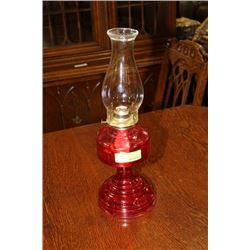 VINTAGE OIL LAMP ON CHOICE: RED