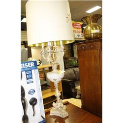 VINTAGE STYLE METAL AND GLASS LAMP