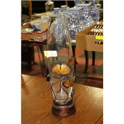 SHOWHOME METAL AND GLASS VASE
