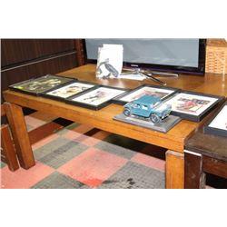WOOD TONE KITCHEN TABLE