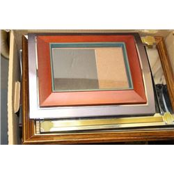 TWO BOXES OF PICTURE FRAMES