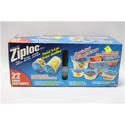 ZIPLOCK 22 PCS CONTAINER SET