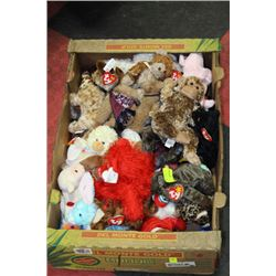 BOX OF TY BEENIE BABIES