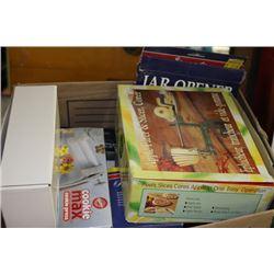 BOX OF NEW KITCHEN ACCESSORIES