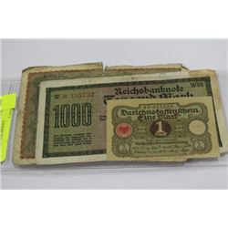 THREE GERMAN MARK BANK NOTES SOLD FOR ONE MONEY