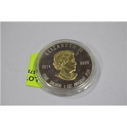 .9999 2014 20 DOLLARS 1 OZ EAGLE SILVER COIN