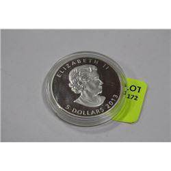 .9999 5 DOLLARS 2013 1OZ MAPLE LEAF SILVER COIN