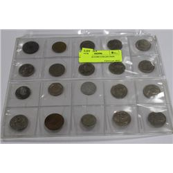 20 PC WORLD COIN COLLECTION