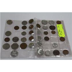 36 WORLD COINS