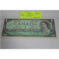 GEM UNCIRC 1967 NO S/N CENTENNIAL $1 NOTE