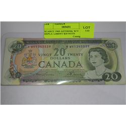 SCARCE 1969 ASTERISK W/V REPLACEMENT $20 NOTE