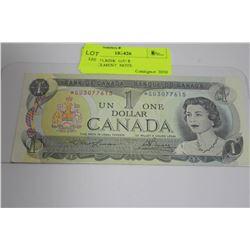 1973 ASTERISK  G/U $1 REPLACEMENT  NOTE