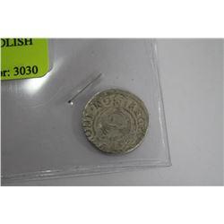 SCARCE 1587-1632AD SILVER POLISH 3 POLKER