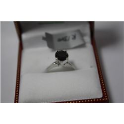 #14 14K GOLD BLACK DIAMOND RING APPRAISED $3282