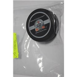 EDMONTON OILERS 30TH ANNIVERSARY GAME PUCK