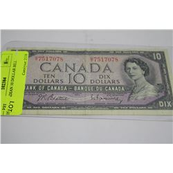1954 CANADIAN 10 DOLLAR BILL