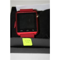 NEW RED SMARTWATCH FOR IPHONE, SAMSUNG, HTC, ETC.