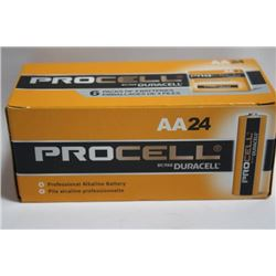 BOX OF 24 DURACELL PROCELL BATTERIES 'AA'