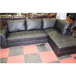 NEW BLACK LEATHER L SHAPE SECTIONAL