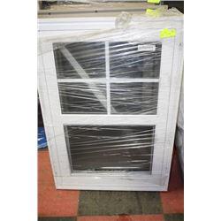 26 1/8 X 37 7/8 WHITE FRAME WINDOW