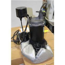 MYERS 1/3 HP SUBMERSIBLE SUMP PUMP