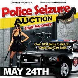 NEXT WEEK KASTNER AUCTIONS HOST A POLICE SEIZURE