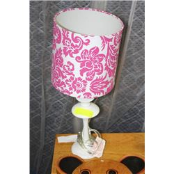 SHOWHOME PINK AND WHITE LAMP