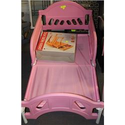 PINK TODDLERS BED