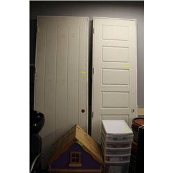 3 INTERIOR DOORS ASSORTED STYLES