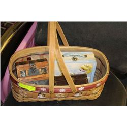 BASKET WITH COLLECTIBLE TIN