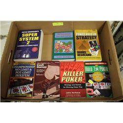 FLAT OF 7 POKER BOOKS
