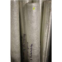 ROLLS OF FIBERGLASS MAT FOR REPAIRING BOATS AND