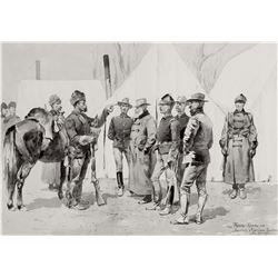 At the Mouth of Rapid CreekÑGeneral Carr Receiving the Report of a Scout