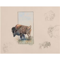 Buffalo Herd  (Sold as a set of 5)