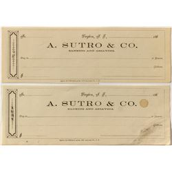 A. Sutro & Co., Bankers and Assayers, Receipts