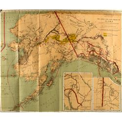 1898 Map of the Gold and Coal Fields of Alaska