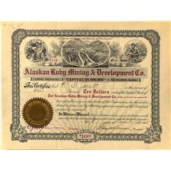 Alaskan Ruby Mining & Development Co. Stock Certificate
