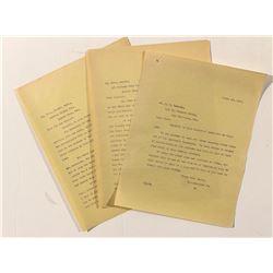 Sultana Mining Company Correspondence