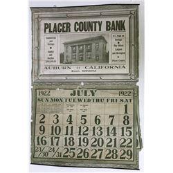 Placer County Bank Calendar